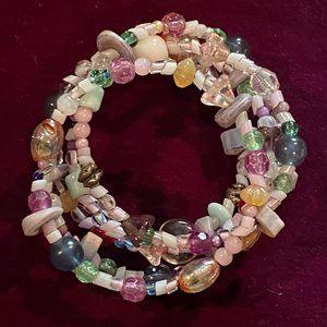 Pink Multicolored Pastel Wrap Bracelet